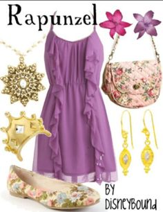 Rapunzel inspired outfit! Love Tangled!!