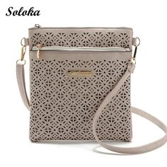 2017 New Arrival Casual Women Messenger Bags PU Hollow Out Crossbody Bags Fresh Style Shoulder Purse Fashion Hot Handbags Cool