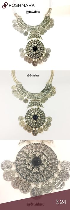 🔴🆕Silver bohemian gypsy tribal retro necklace Brand new boho coin necklace. ‼️Please ❌trade and ❌offers. Price of firm unless bundled.‼️ Elegant Jewelry Jewelry Necklaces