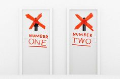 Number Two, Bathroom Signs, Signage, Lockers, Locker Storage, Numbers, Google Search, Home Decor, Decoration Home