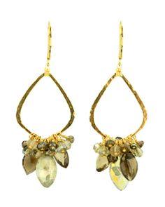 Dana Kellin Mocha Mix Drop Cluster Earrings