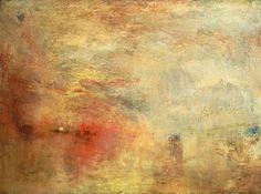 Bild:  William Turner - Sonnenuntergang über einem See