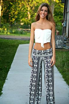 Small sexy top with Chic Aztec print bright #pants