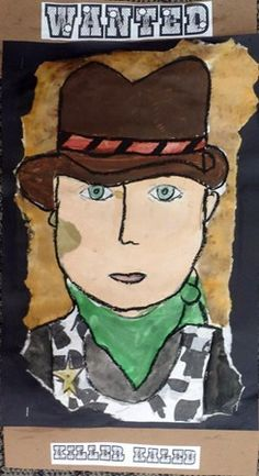This will be great when my fifth graders study the wild west. portrait project for made in america