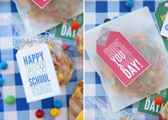 Cool free back to school printables: West and Main lunch box notes