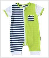 French Blue stripe zip romper  Spring/Summer 14 Li'l Zippers