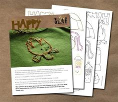 Happy Campers  Outdoors Camping PDF Embroidery by wildolive, $4.00