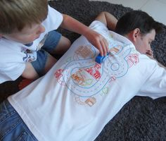 Size M - Car Play Mat T Shirt : Playtime for Kids, Back Massage for Dad relaxing Birthday Gift for Father Grandad Christmas present gift on Etsy, $18.48