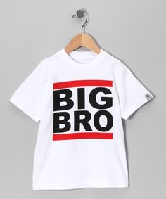 Another great find on #zulily! White & Red 'Big Bro' Tee - Infant, Toddler & Boys #zulilyfinds