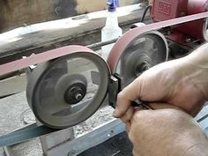 Something seems dangerous and yet genius about this! Double-Wheel Hollow Grinder - YouTube