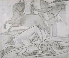 Estudio de composición (V). Boceto para «Guernica»