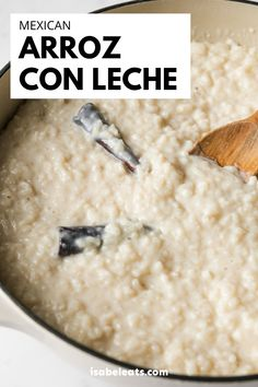 Arroz con Leche (or Mexican rice pudding) is a comforting and simple no-fuss Mexican dessert that's guaranteed to satisfy any sweet tooth. This recipe can be served hot or cold and is made with only 6 ingredients! #arrozconleche Homemade Desserts, Easy Desserts, Dessert Recipes, Cake Recipes, Mexican Cooking, Mexican Food Recipes, Mexican Desserts, Cook At Home, Cravings
