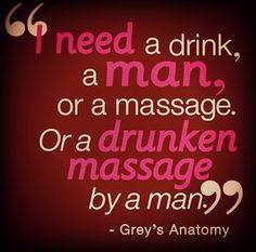 Drunken massage by a man #greysanatomy
