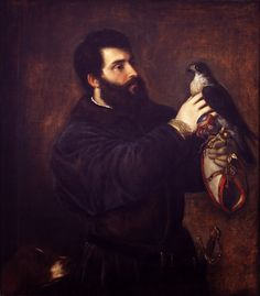 Giorgio Cornaro with a falcon, by Tiziano Vecellio, c. 1537