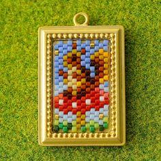 Peyote Stitch Patterns, Beading Patterns, Textiles, Beaded Animals, Beaded Brooch, Brick Stitch, Bead Weaving, Perler Beads, Seed Beads