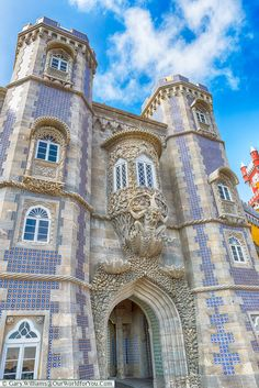 Triton over the gateway, The Palace of Pena, Sintra, Portugal