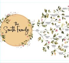 Your place to buy and sell all things handmade Family Tree Print, Family Tree Chart, Family Trees, Tree Illustration, Family Organizer, Watercolor Trees, Sentimental Gifts, Family History, Photo Book