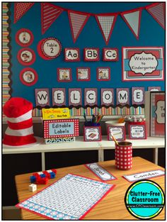 Are you a Dr. Seuss fan? Then you'll love this Whimsy Inspired Classroom Theme! Click through to get great decorating ideas. And if you want to make it really easy, buy the decor bundle from Clutter Free Classroom!