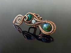 Záušnice z mědi s chryzokolem a měsíčním kamenem • galena-shop.cz Turquoise Bracelet, Bracelets, Jewelry, Bangle Bracelets, Jewellery Making, Jewerly, Jewelery, Jewels, Bracelet
