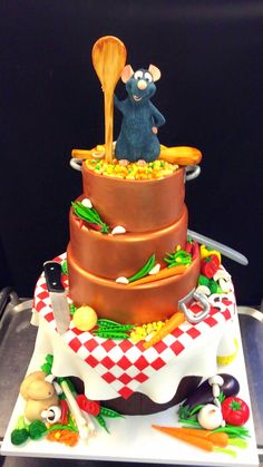 Need to get this exact cake for hubby's next birthday. He loves this movie! Disney Themed Cakes, Disney Cakes, Disney Disney, Pretty Cakes, Cute Cakes, Creative Cakes, Unique Cakes, Fondant Cakes, Cupcake Cakes