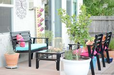 Our Colorful, Repurposed Deck Makeover Revealed