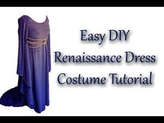 Inspired by Juliet and Guinevere, this Renaissance dress is so easy to make, even someone with minimal sewing skills can master it! Inspired by this pin on P. Easy Renaissance Costume, Renaissance Dresses, Medieval Clothing, Easy Diy Costumes, Costume Ideas, Diy Princess Costume, Narnia Costumes, Viking Dress, Diy Dress