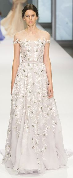 Elegant wedding dress inspiration: Ralph & Russo Haute Couture Spring 2015