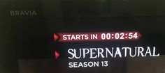 Finally SUPERNATURAL season 13 After months of waiting