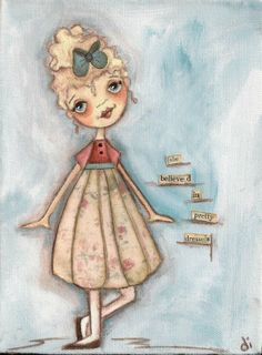 By Diane Duda. How very cute! We'd print this on a very lightly textured fine art paper, such as Cotton Rag, to bring out the softness of the brushstrokes