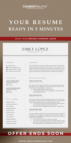 Professional nurse resume template that will help to get the job of your dreams faster! Easy to customize on Word and Apple Pages. Designed by an experienced CreatedResume team these resume templates will catch an eye and help you outstand from the others. #resume #resumetemplate #nurseresume #modernresume #resumeformat #resumedesign #resumetips #createdresume #cv #cvtemplatepeople Nursing Resume Template, Resume Templates, Nursing Cv, Registered Nurse Resume, Modern Cv Template, Professional Nurse, Microsoft Word 2007, Modern Resume, Resume Format