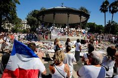 People attend a minute's silence held for the victims of the 14 July terror attack in Nice, France Pokemon Beach, Picture Editor, S Pic, Beach Party, Pikachu, Dolores Park, Around The Worlds, Nice France, Memories