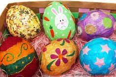 Papier Mache Easter Eggs craft