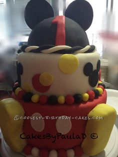 Coolest 3 Tier Mickey Cake... Coolest Birthday Cake Ideas