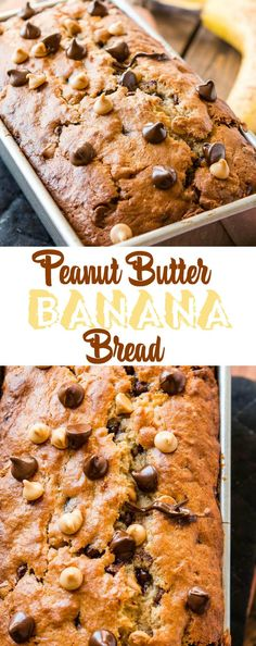 You think you've got a great banana bread recipe, but have you had this peanut butter banana bread? It's so soft and full of chocolate chips and peanut butter chips.  via @ohsweetbasil
