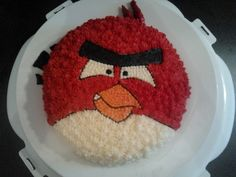 Angry Bird's Birthday Cake - Angry Bird's birthday cake for my Brother-in-law...  I saw this done on google images and thought I should try this and went for it even though this was my first time using frozen buttercream transfer :D