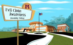 Kim Possible's High School: Home of the Best Welcome Sign