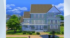 Check out this lot in The Sims 4 Gallery! Hydroponic Gardening, Hydroponics, Organic Gardening, Sims 4 Houses, Big Houses, Building A House, Multi Story Building, Big Family, Traditional