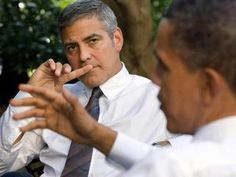"""""""I'm a Democrat — I'm a believer. I think he's done a wonderful job . . . I root for him. I root for the President of the United States."""" — George Clooney on supporting President Obama"""
