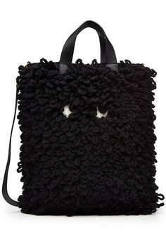 ANYA HINDMARCH - Shag Eyes Wool Tote | STYLEBOP