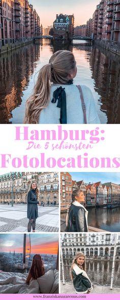 """Hamburg ist eine der schönsten und sehenswertesten Städte in Deutschland. Kein Wunder, dass sich hier tolle Fotolocations aneinander reihen. Du suchst instagrammable Foto Spots in Hamburg (wie hier das Hamburger Wasserschloss)? Der Post """"Hamburg: Die 5 schönsten Fotolocations"""" wird dir bei deiner nächsten Hamburg Reise mit Tipps helfen: http://franziskanazarenus.com/2018/03/25/die-5-schoensten-fotolocations-in-hamburg/"""