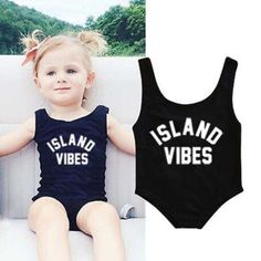 Island Vibe Black Swimsuit from kidspetite.com!  Adorable & affordable baby, toddler & kids clothing. Shop from one of the best providers of children apparel at Kids Petite. FREE Worldwide Shipping to over 230+ countries ✈️  www.kidspetite.com  #baby #girl #newborn #swimsuit #swim #swimwear #beach #infant Romper Swimsuit, Black Swimsuit, One Piece Swimsuit, Bikini Swimwear, Baby Girl Swimwear, Baby Girl Swimsuit, Kids Swimwear, Tankini, Costume