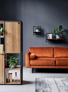 Argos Home Jackson 4 Seater Velvet Sofa – Orange – Sofa Design 2020 Small Shelves, Floating Shelves, Living Room Sofa, Living Area, Ideas For Living Room, Living Room Colors, Orange Sofa, Green Sofa, Velvet Sofa