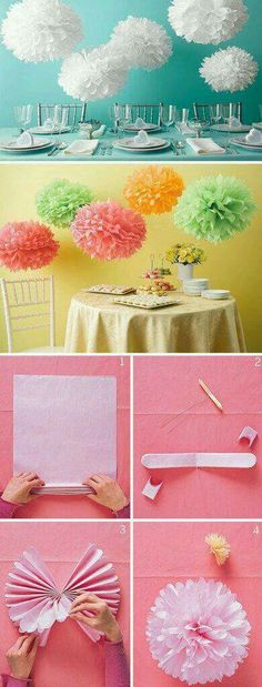 I wanna make a B & 2 for my girl bday party DIY Tissue paper ball decorations. I wanna make a B & 2 for my girl bday party Tissue Paper Ball, Paper Balls, Tissue Paper Flowers, Diy Flowers, Paper Flower Ball, Tissue Balls, Paper Pom Poms, Diy And Crafts, Crafts For Kids