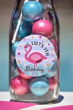 Pink Flamingo  Pool Party at Kara's Party Ideas. See more at karaspartyideas.com!