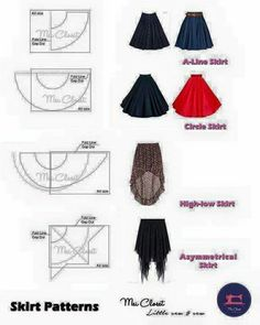 Best 10 Here are all the basic circle skirt patterns. Check out the link for mor… Best 10 Here are all the basic circle skirt patterns. Check out the link for more instructions and variations. Skirt Patterns Sewing, Clothing Patterns, Circle Skirt Patterns, Fashion Sewing, Diy Fashion, Dress Fashion, Fashion Trends, Fashion Tips, Costura Fashion