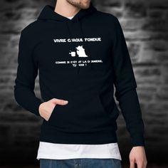Pull à capuche, en coton, mode homme avec ★ Vivre chaque fondue comme si c'était la dernière, tu DOIS ! ★ inspiré des célèbres répliques de Yoda dans la saga Star Wars