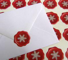 christmas envelope seal