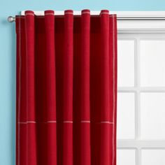 yes to bright color curtains.