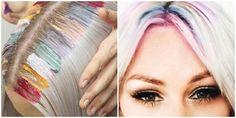 http://cortede-pelo.com/rainbow-roots-glitter-roots/ Pinta las raíces de tu cabello de colores y dalas brillo!! Es lo último en tendencia 2016 2017 ➨➨ Rainbow roots y Glitter roots ¿Quieres conocer todos los detalles? ¿Lograr estos peinados de moda en casa? Nosotros te mostramos cómo teñir tus raíces con los colores más explosivos de fantasía ¡Vídeo Paso a Paso! Tienes dos opciones, usar tintes permanentes o aplicar color con las tizas de pelo. En este caso será de forma temporal.....