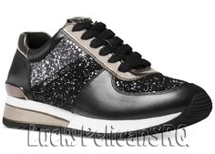 d82cec9bb7c Michael Kors Allie Wrap Trainer Sneakers Black Sparkle M(Medium)NWB   MichaelKors